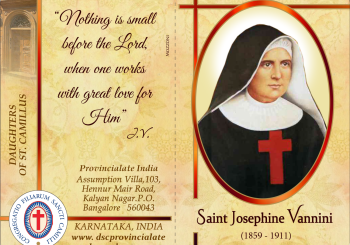 PRAYER TO BL. M. JOSEPHINE VANNINI